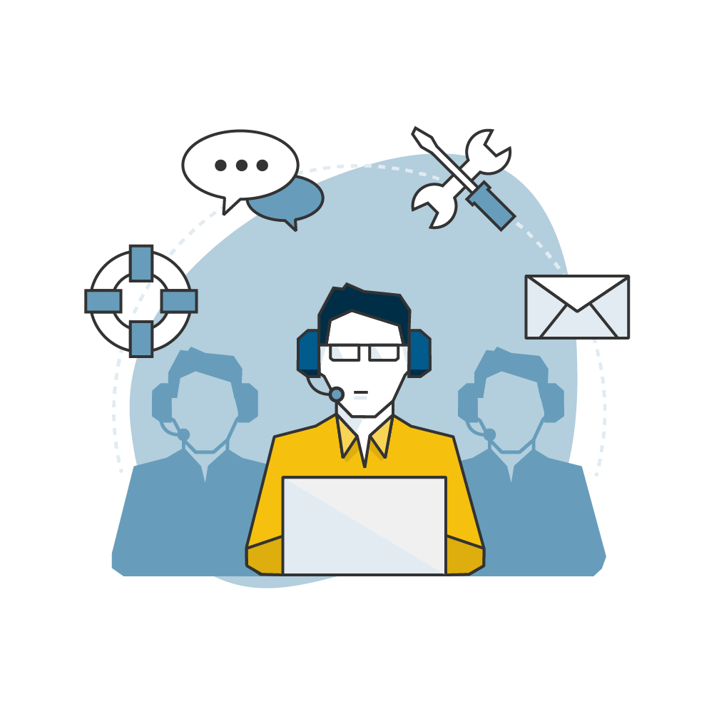 Helpdesk Support graphic - Stepping Forward Technology, IT support Colorado Springs